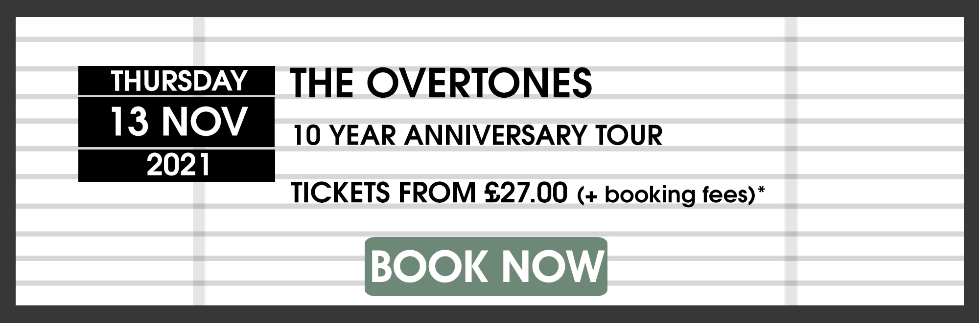 The Forum Bath The Overtones 2021